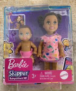 Barbie Skipper Babysitters Inc Toddler & Baby 2-Pack Brunette Baby Doll New