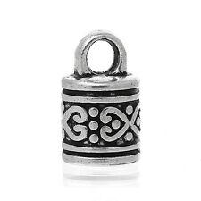 KUS 40 Gravur Herz Charms Anhänger Halskette Endkappen Perlen Beads 16x10mm