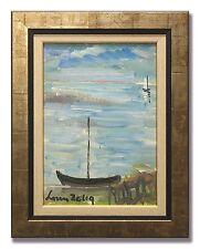LOUIS ZELIG / SAILING-BOATS- Original Swedish Oil Painting