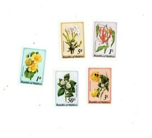 VINTAGE CLASSICS - MALDIVES SC# 815-19 Wild Flowers Set of 5 - MNH