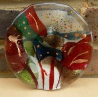 VETRAME Fused Art Glass Dish or Wall Hanging