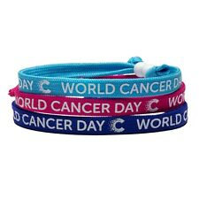 CANCER RESEARCH UK World Cancer Day 2020 Unity Band Mixed Pack Of 3