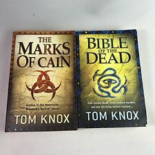 2 Tom Knox Books - The Marks of Cain & Bible of The Dead - Bundle