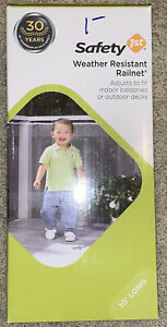 New - SAFETY 1ST - Weather Resistant Railnet for Deck & Balcony - 10 Feet Long