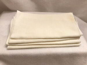 Dinner Table Napkins Kitchen Cloth Ivory 4 Lot Pack 13.5 x 13.5