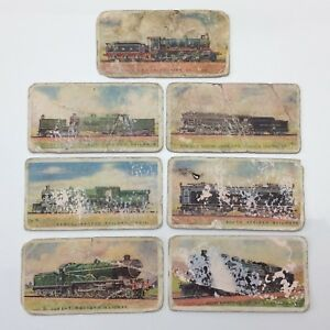 Railway Engines Series Of 50 Lot 7 Train Cards Imperial Tobacco Company F071