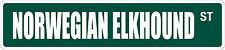 "*Aluminum* Norwegian Elkhound 4"" x 18"" Metal Novelty Street Sign Ss 2756"