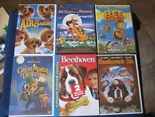 DVD's 6~Beethoven First, Second, Fifth + Air Buddies + All Dogs Go To Heaven..