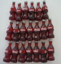 Dollhouse 20 Miniature Coke Coca Cola Soda Bottles 1:12 Scale 2.5cm US Seller
