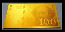 """★★★ BILLET POLYMER  """" OR """" DU 100 FRANCS CEZANNE ● DESTOCKAGE ★★ REF1"""