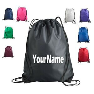 Personalized Drawstring Bag Cinch Backpack Tote Pack Monogram Gym School Sports