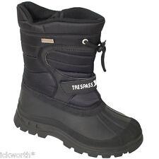 Trespass Kids Boys Girls Waterproof Snow BOOTS Kukun Dodo Size Uk11 Black Uk3 EU 35 Small Fitting
