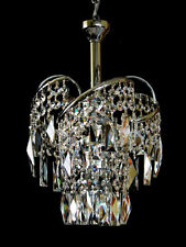Small Fine Crystal Chandelier With Real Crystals. in Gold or Silver Available.