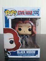 Marvel Funko Pop - Black Widow - Captain America: Civil War - No. 132