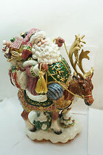 Fitz And Floyd Figurine Centerpiece Christmas Santa Jolly Ole St Nick Reindeer