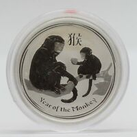 2016 Australia Year of Monkey 999 Silver Coin 1/2 oz 50 Cents - Half Ounce JD418