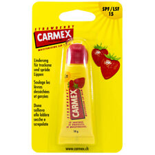 Carmex Strawberry Lip balm Tube Flavored SPF15 Water Resistant 10ml / 0.35oz US