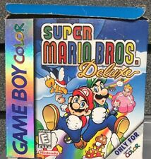 Super Mario Bros Deluxe | Game Boy Color |  Box and Manual | Ships Fast
