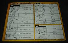 Inspektionsblatt Toyota Corolla Diesel CE 70 Werkstatt Service Blatt 10/1984!