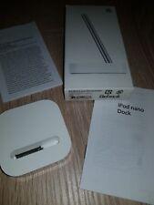 Apple iPod Nano ma594g/a Dock Incl. SORTIE AUDIO NEUF original blanc