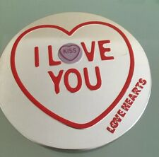Love Hearts I Love You' Retro Sweets Tin Only storage gifr box