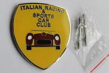 ITALIAN RACING CAR CLUB GRILLE BADGE EMBLEM