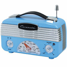 Coronado Vintage Style Retro Blue AM/FM Portable Radio