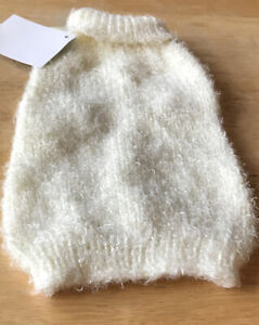 Fifth Avenue pet Collection - White Dog Sweater- X Small
