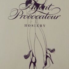 Agent Provocateur tassel stockings S seamed nude & black vintage style NEW
