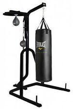 Everlast Three-Station Heavy Duty Punching Bag Stand Black Set NEW