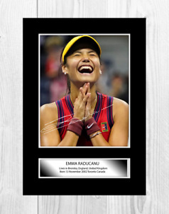 Emma Raducanu 2 A4 tennis reproduction autograph poster with choice of frame