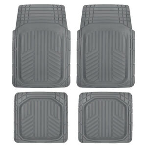 Sharper Image Tough Deep Dish Rubber All Weather Mats for Car Auto SUV Truck Van