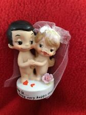kim casali love Is..being happy though not liberated 1972~Wedding Cake Topper