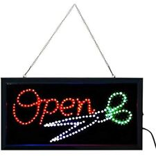 E-Onsale Ultra Bright Led Neon Animated Hair Cut Salon Open Sign For Business