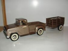 1960 Tonka Pickup Truck and matching stake trailer