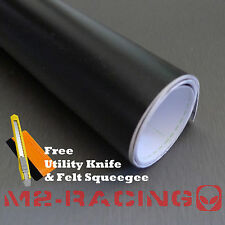 "** 60""x72"" FLAT MATTE BLACK Vinyl Wrap Sticker Decal Sheet w/ Bubble Air Release"