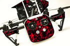 DJI Inspire 1 Quadcopter/Drone, Transmitter, Battery Wrap/Skin | Red Flames