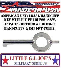 Handcuff Key (1) American universal handcuff key For Peerless S&W ASP CTS HIATT