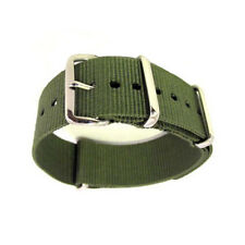 18/20 mm Military Nylon Wrist Watch Band Strap For Watch Metal Steel Buckle OP