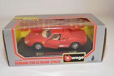 V 1:24 BBURAGO BURAGO 0506 506 FERRARI 250 LE MANS 1965 RED MINT BOXED