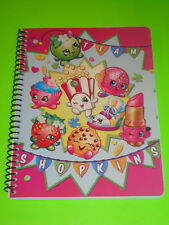 SHOPKINS SPIRAL NOTEBOOK - 70 WIDE RULES SHEETS OF PAPER - NEW AUTHENTIC