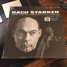 BACH, JANOS STARKER SUITES FOR UNACCOMPANIED CELLO COMPLETE 3 LP'S, 180 GRAM