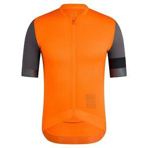 NEW Rapha Men's Cycling Jersey XL Pro Team Training RCC Orange Black Grey Race