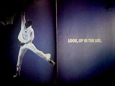 """1987 Nike Air Jordan Original Print Ad Michael Jordan-2 pg-8.5 x 10.5"""" Look'n Up"""