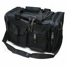 "17"" Black Duffle Style Range Bag - Shooting Gun Hunting Carry On  w/ Padded Lid"