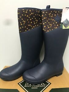 Womens Muck Boots size 11 Tremont Wellie Tall Navy Boots