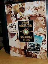 150 years of baseball in Canada  1838 to 1988  Canadian baseball history