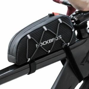RockBros Waterproof Reflective Bike Bicycle Frame Front Top Tube Bag Black 1L