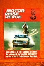 Motor + Fahrer Reise Revue 7/73 Toyota Celica ST Knaus Passat