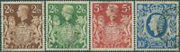 Great Britain 1939 SG476-478 KGVI Arms to 10/- FU